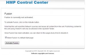 Attivazione di Fusion da Control Center