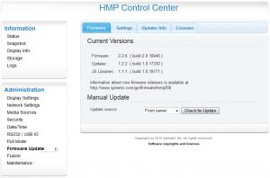 SpinetiX Control Center: verifichiamo che ci siano aggiornamenti disponibili.