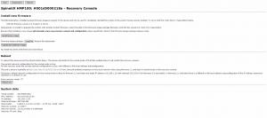 SpinetiX: carichiamo un pacchetto firmware da Recovery Console