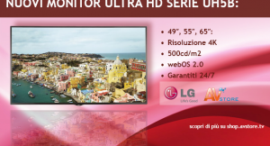 Nuovi display 4K di LG, serie UH5B